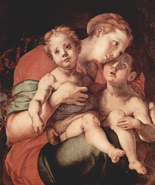 Madonna and Child with the Young Saint John, 1527 - Jacopo Pontormo