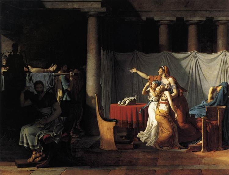 Lictors Bearing to Brutus the Bodies of his Sons, 1789 - Jacques-Louis David