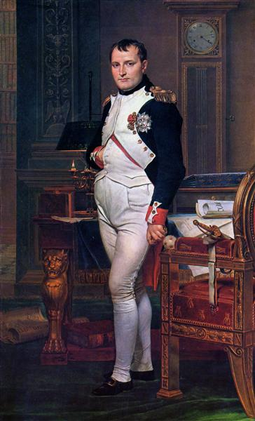 Napoleon Bonaparte in his Study at the Tuileries, 1812 - Jacques-Louis David