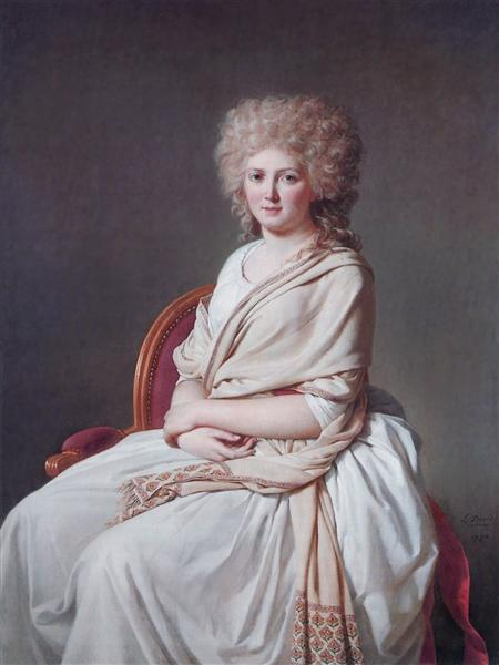 Portrait of Anne Marie Louise Thélusson, Countess of Sorcy, 1790 - Jacques- Louis David - WikiArt.org