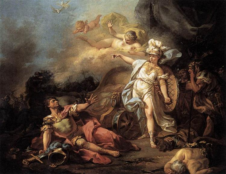 The Combat of Mars and Minerva, 1771 - Jacques-Louis David