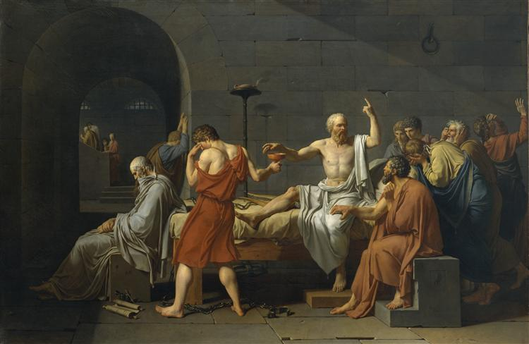 The Death of Socrates, 1787 - Jacques-Louis David