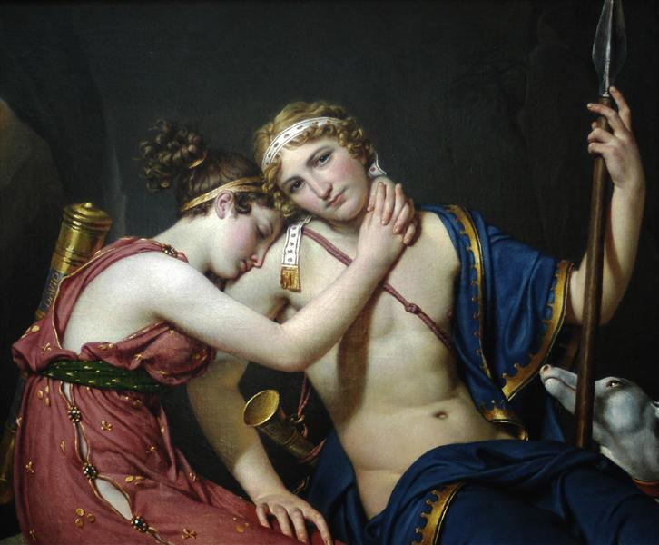 The Farewell of Telemachus and Eucharis, 1818 - Jacques-Louis David