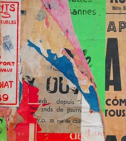 Rue Pastourelle, Avril 1968, 1968 - Jacques Villeglé