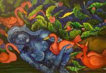 Mermaid in Lotus Pond I - Jahar Dasgupta