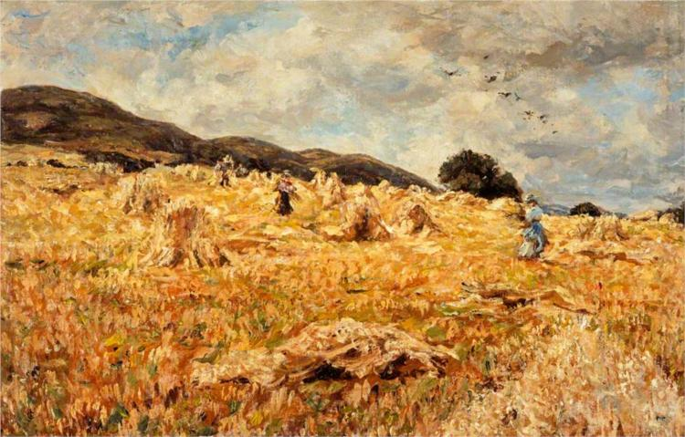 A Cornfield near Wooler - James Charles