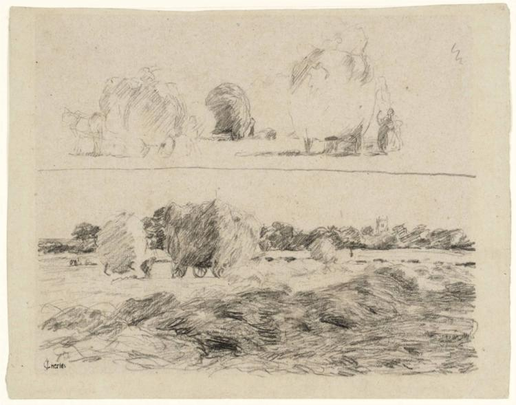 In the Hayfield: Two Studies, 1876 - James Charles