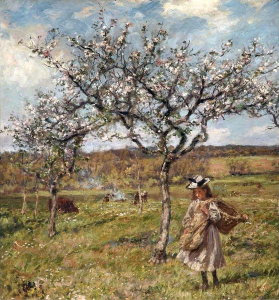 Spring Blossom at Ambersham, 1904 - James Charles