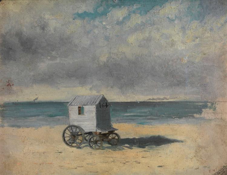 The Bathing Hut. Afternoon, July 29, 1876, 1876 - James Ensor