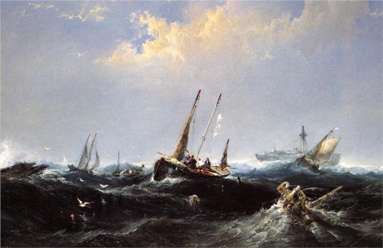 After the Storm on the Coast of Newfoundland, 1860 - James Hamilton