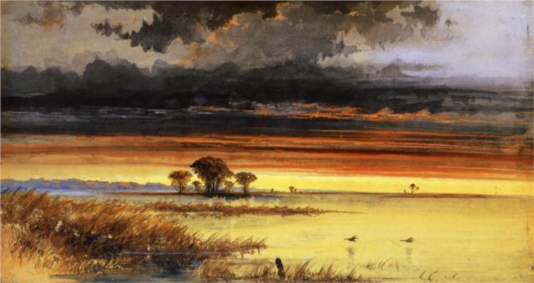 Sunset on the Jersey Flats, 1861 - James Hamilton