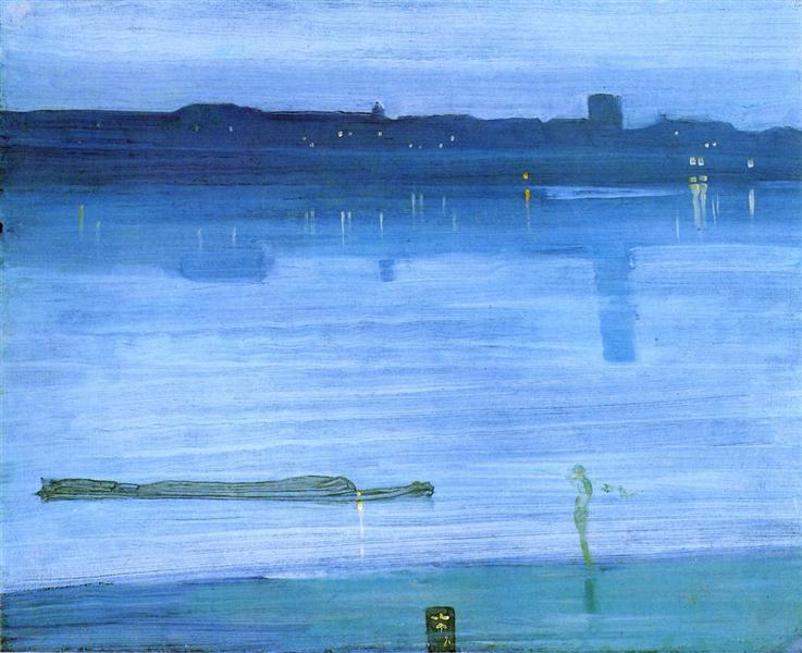 Nocturne, Blue and Silver: Chelsea, 1871 - James McNeill Whistler