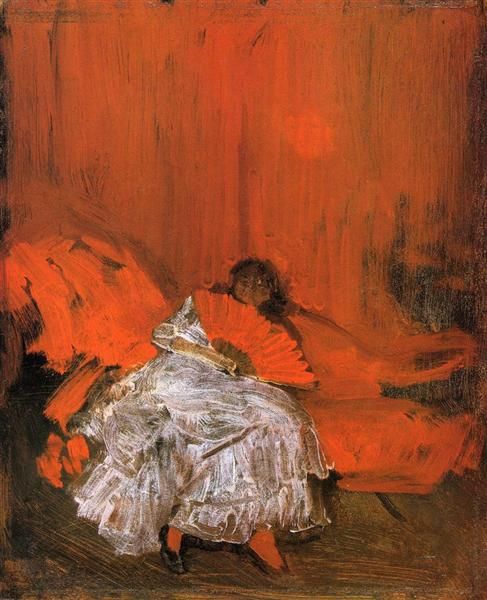 Red and Pink The Little Mephisto, c.1884 - James McNeill Whistler