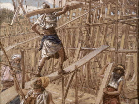 Building the Ark, c.1896 - c.1902 - James Tissot