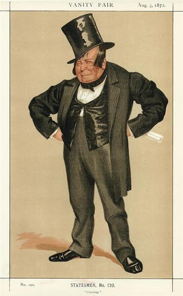 Caricature of James Delahunty M.P., 1872 - James Tissot