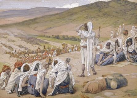 Jacob Sees Esau Coming to Meet Him, c.1896 - c.1902 - James Tissot