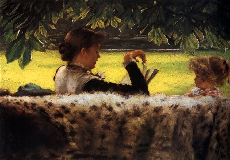Reading A Story, c.1878 - c.1879 - James Tissot