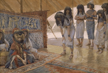 Sarai Is Taken to Pharaoh's Palace, c.1896 - c.1902 - James Tissot