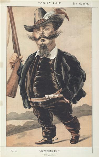 Sovereigns No.70 Caricature of M Victor Emmanuel II of Italy - James Tissot