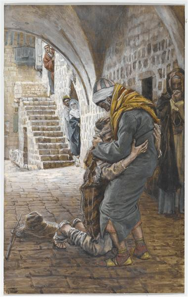 The Return of the Prodigal Son, illustration for 'The Life of Christ', c.1886 - c.1896 - Джеймс Тиссо