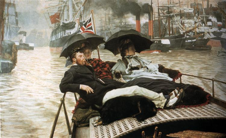 The Thames, 1876 - James Tissot