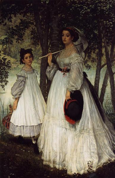 The Two Sisters Portrait, 1863 - Джеймс Тіссо