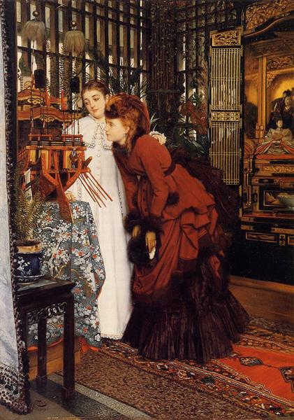 Young Ladies Looking at Japanese Objects, 1869 - James Tissot