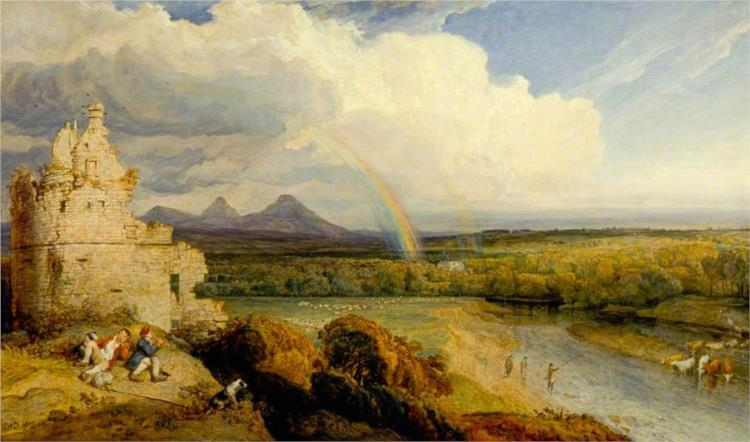 The Eildon Hills and the Tweed, 1807 - James Ward
