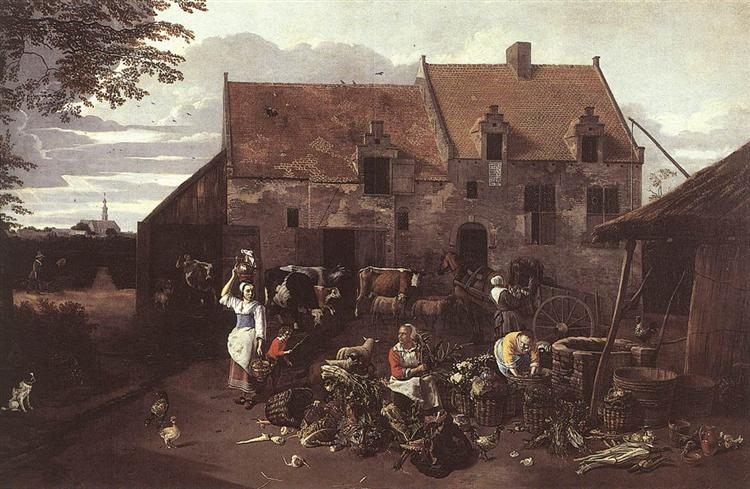 The Market Garden, 1664 - Jan Siberechts