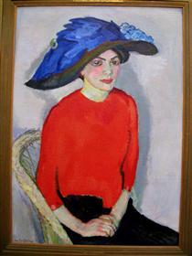Portrait of a lady in red - Jan Sluyters
