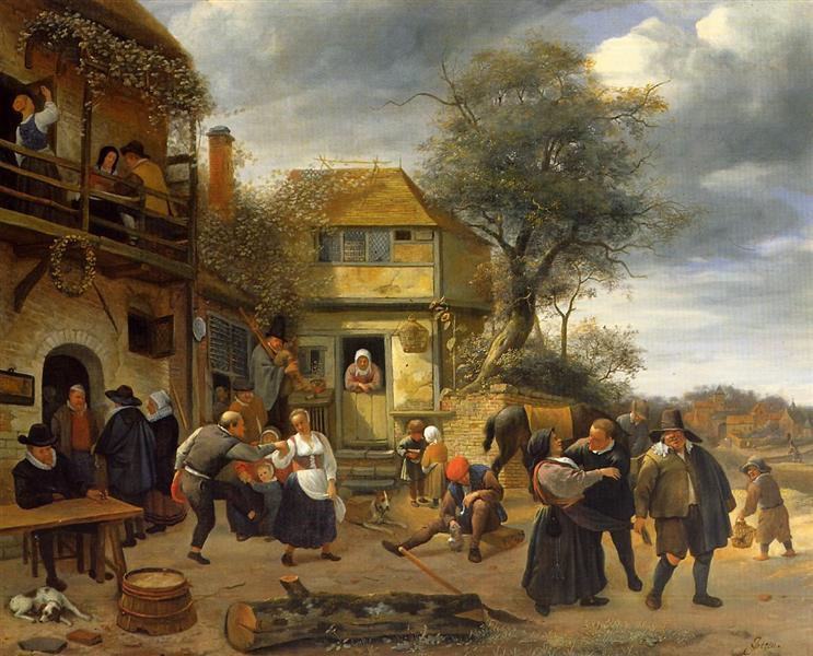 Peasants before an Inn, 1653 - Jan Steen