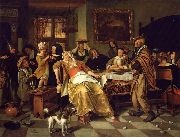 Twelfth Night, 1668 - Jan Steen