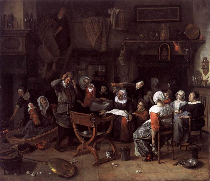 Twin Birth Celebration, 1668 - Jan Steen