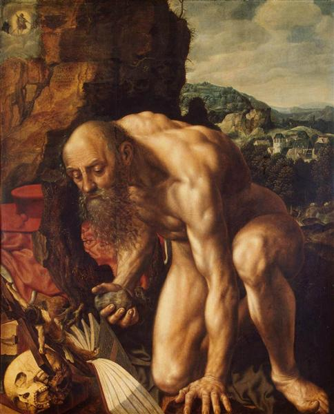 St. Jerome, 1543 - Jan van Hemessen