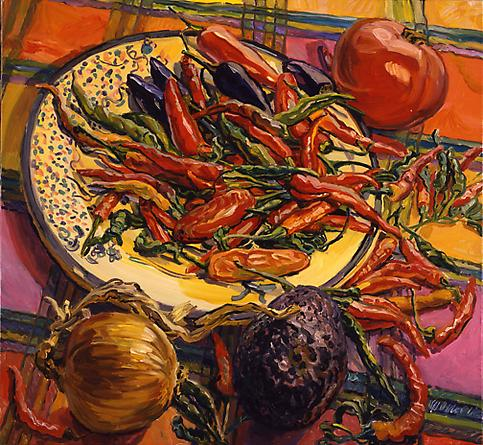 Chili Peppers, 2005 - Janet Fish