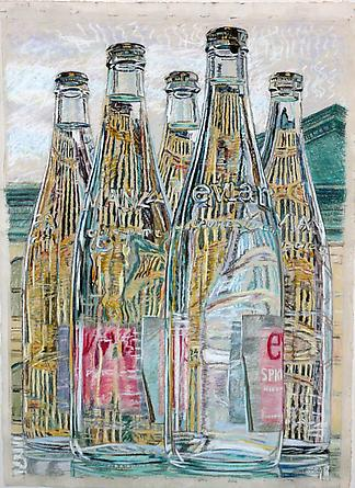 Evian Bottles, 1976 - Janet Fish