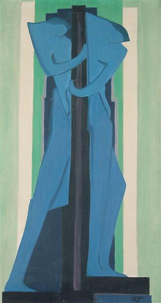 Blue Figure, 1927 - Janos Mattis-Teutsch