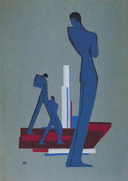 Composition, 1930 - Janos Mattis-Teutsch