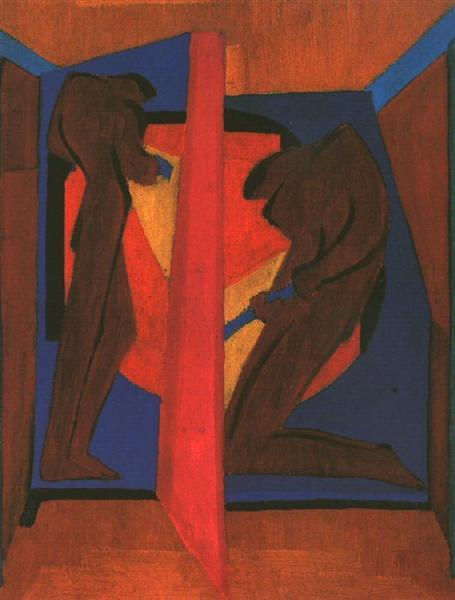In the Mine, 1928 - Janos Mattis-Teutsch