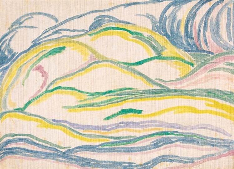Landscape with Hills, 1916 - Janos Mattis-Teutsch