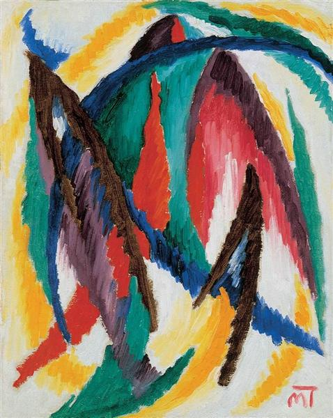 Peaky Forms, 1923 - Janos Mattis-Teutsch