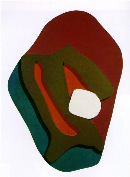 Terrestrial Forest Form, 1917 - Jean Arp