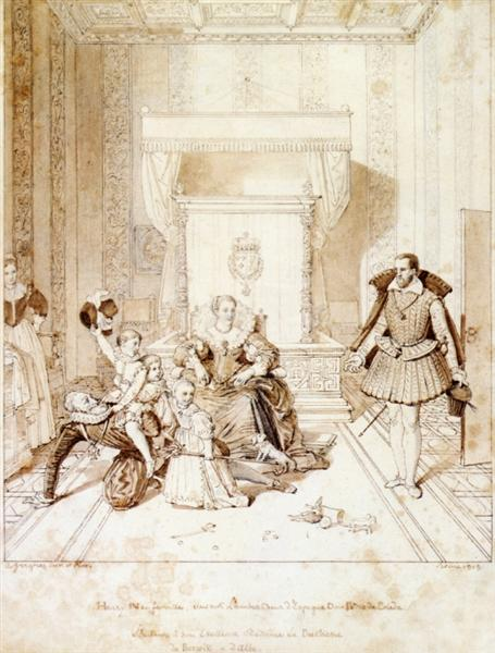 Henry IV Playing with His Children, 1819 - Jean Auguste Dominique Ingres