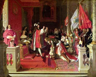 King Philip V of Spain Making Marshal James Fitzjames - Jean Auguste Dominique Ingres