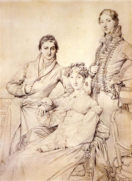 Mr. and Mrs. Woodhead with Rev. Henry Comber as a Youth, 1816 - Jean Auguste Dominique Ingres