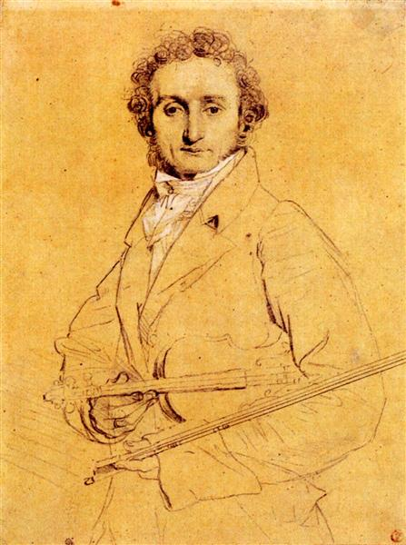 Niccolo Paganini, c.1819 - Jean Auguste Dominique Ingres