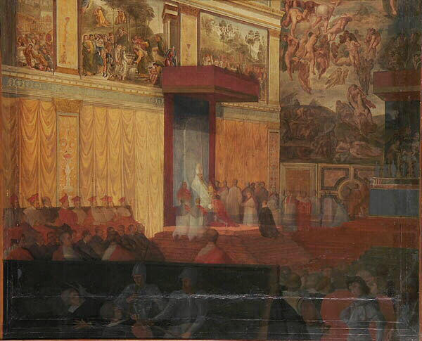 Nomination of a prefect of Rome in the Sistine Chapel, 1848 - Жан-Огюст-Домінік Енгр