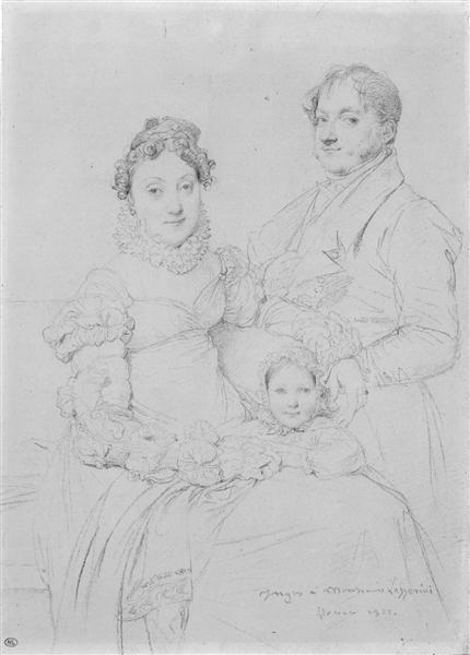 The Cosimo Andrea Lazzerini Family - Jean Auguste Dominique Ingres