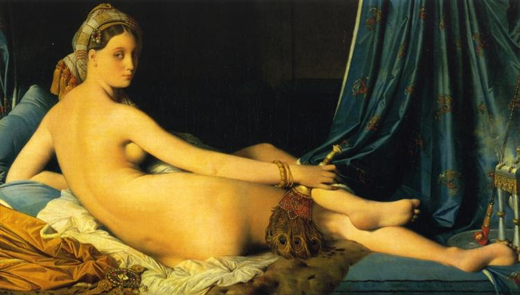 The Grande Odalisque - Jean Auguste Dominique Ingres