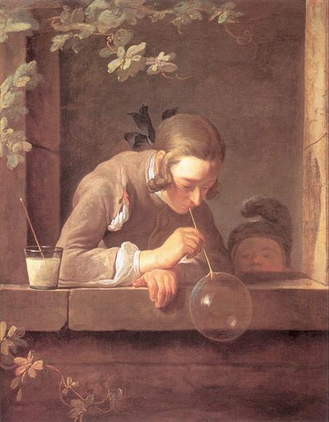 Soap Bubbles, 1733 - 1735 - Жан Батист Симеон Шарден